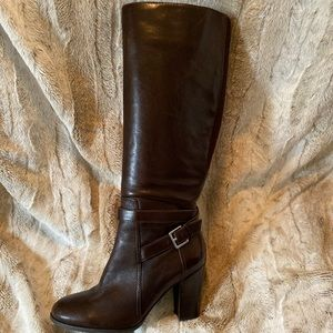 Marc Fisher knee high leather heels